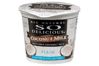 Vegetarian and vegan versions of meat, dairy, and eggs, including So Delicious coconut yogurt.