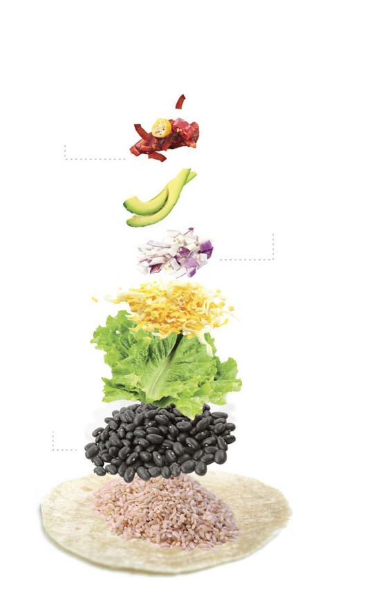 How to make quick, easy vegan and vegetarian meals, including a veggie burrito.
