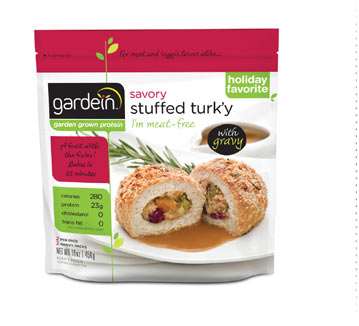 Delicious vegetarian and vegan versions of holiday foods, including Gardein's Stuffed Turk'y.