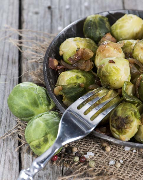 Delicious vegetarian and vegan versions of holiday foods, including roasted brussels sprouts.