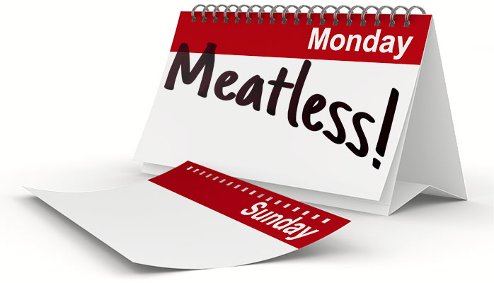 Eat vegetarian on Mondays!