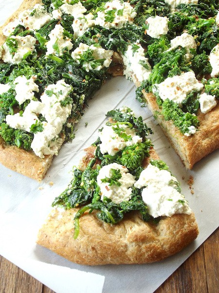 14. Vegan Broccoli Rabe& Cashew Ricotta White Pizza