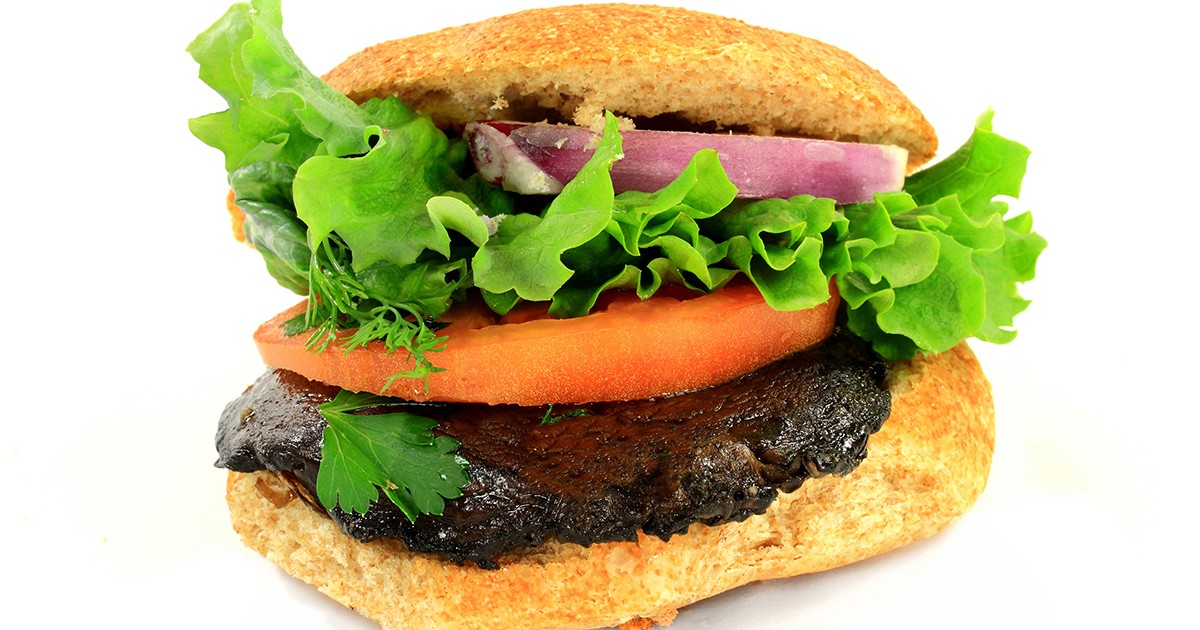 Portobello Mushroom Burgers - ChooseVeg.com
