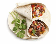 7 days of easy vegetarian meal ideas for new vegetarians and vegans, including a veggie burrito.