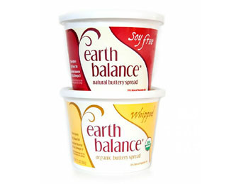 Vegetarian and vegan versions of meat, dairy, and eggs, including Earth Balance butter.