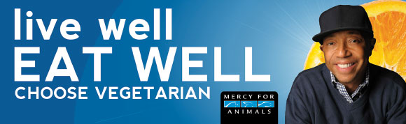 Russell Simmons supporting Mercy For Animals mission encouraging people to choose to be vegetarian