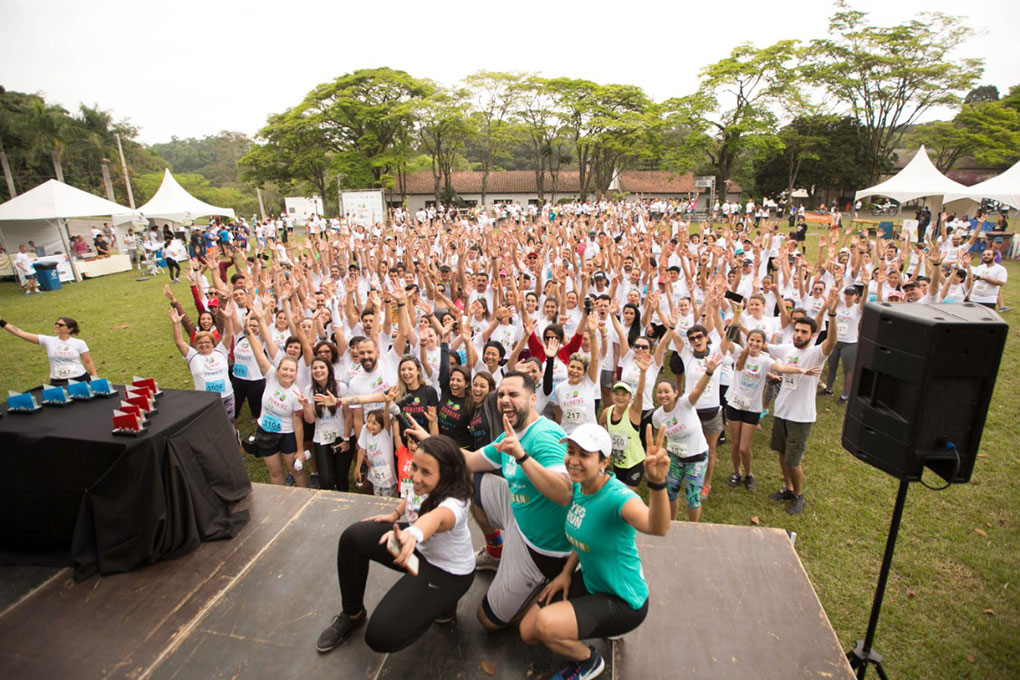 Participants posing for a photo after Running for Animals race