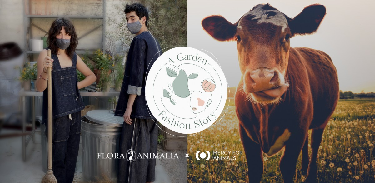 Mercy For Animals Collaborates with Vegan Fashion Brand and Garden Studio Flora Animalia