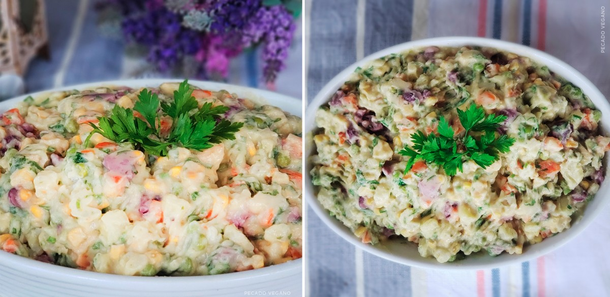 Receita de fim de ano: Salada de maionese de tofu